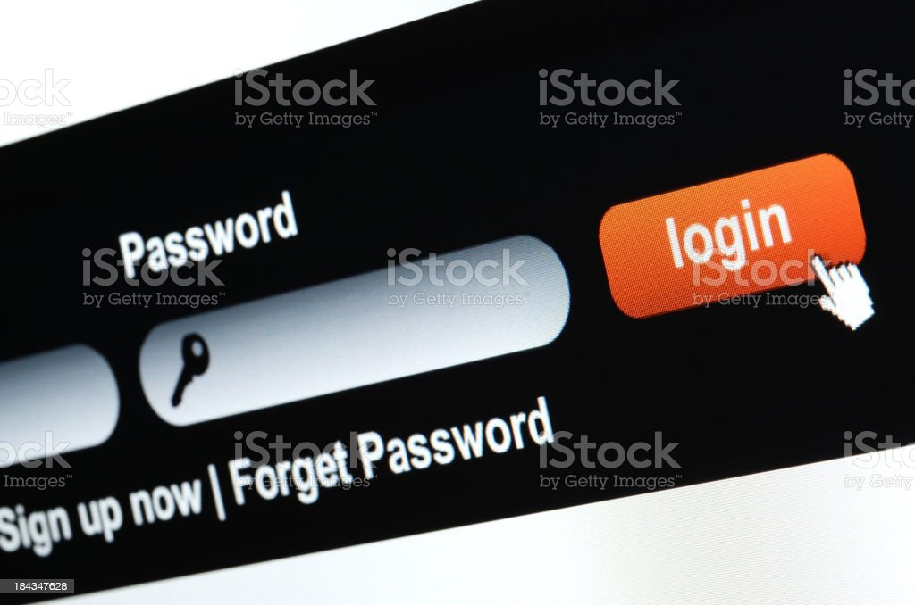 Website Login royalty-free stock photo