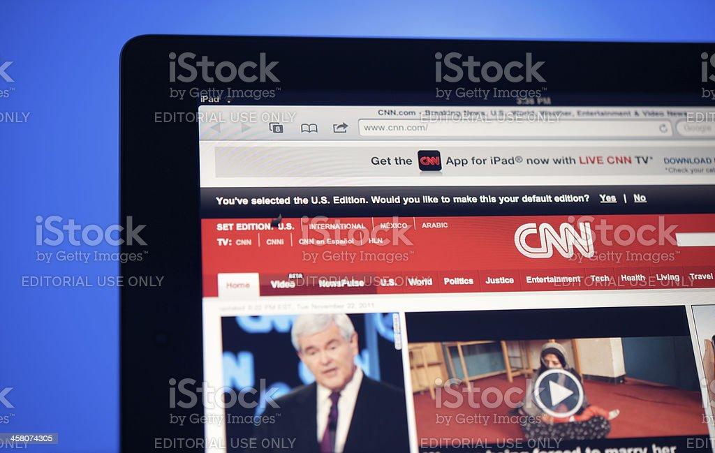 CNN website stock photo
