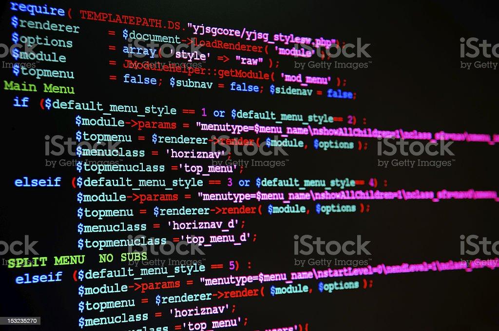 Website Programming Language royalty-free stock photo