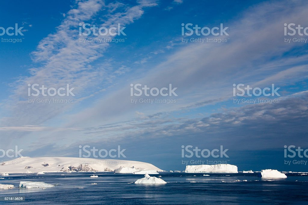 Weddell Sea off the Antarctic Peninsula - Antarctica stock photo