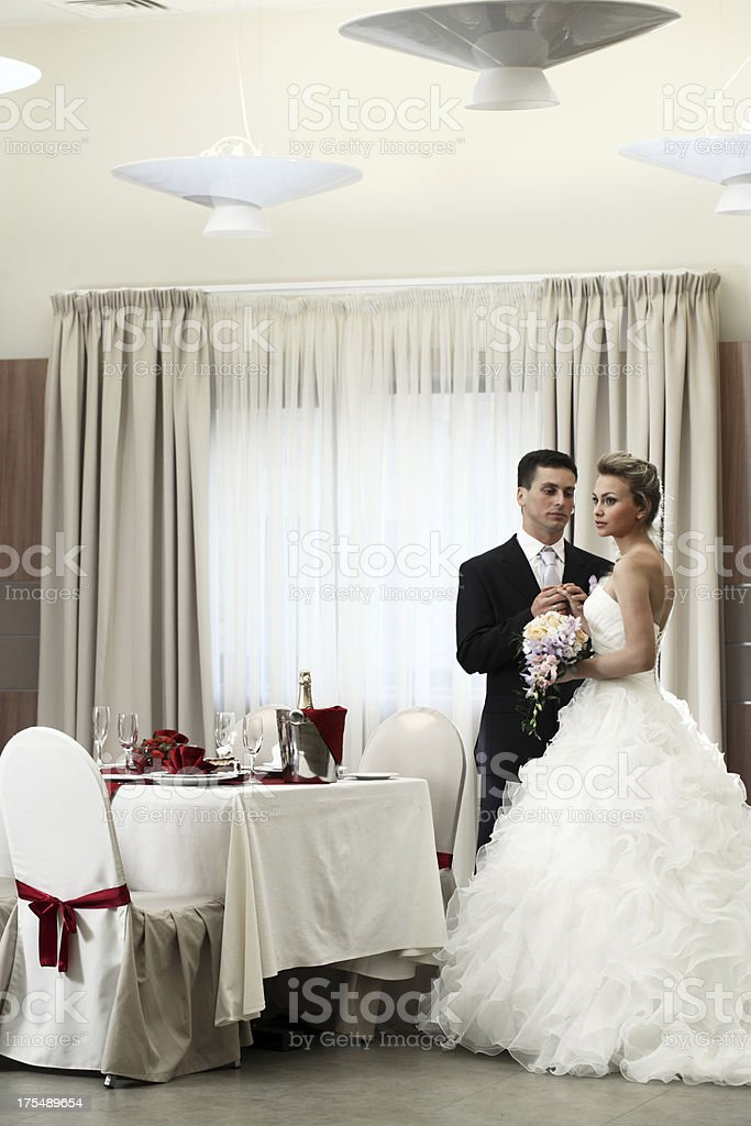 wedding a couple of young people royalty-free stock photo