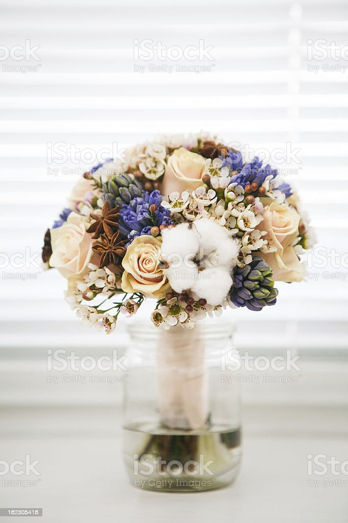 Wedding accessories. Bridal bouquet royalty-free stock photo