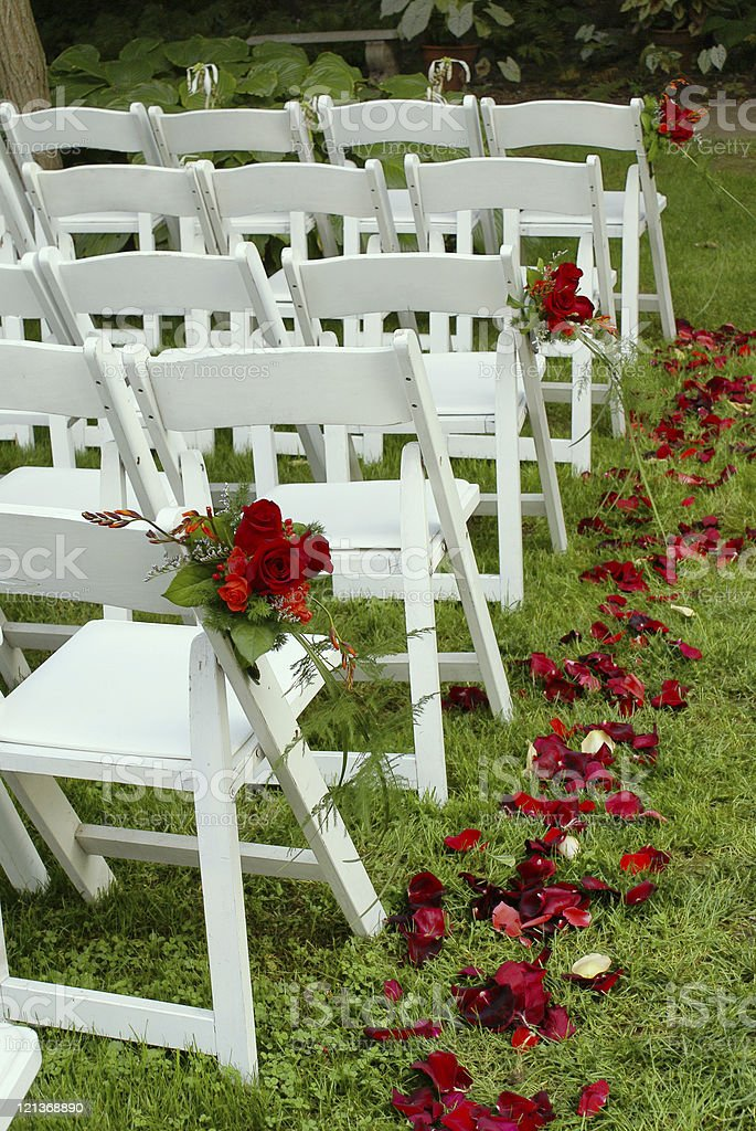 Wedding Aisle royalty-free stock photo