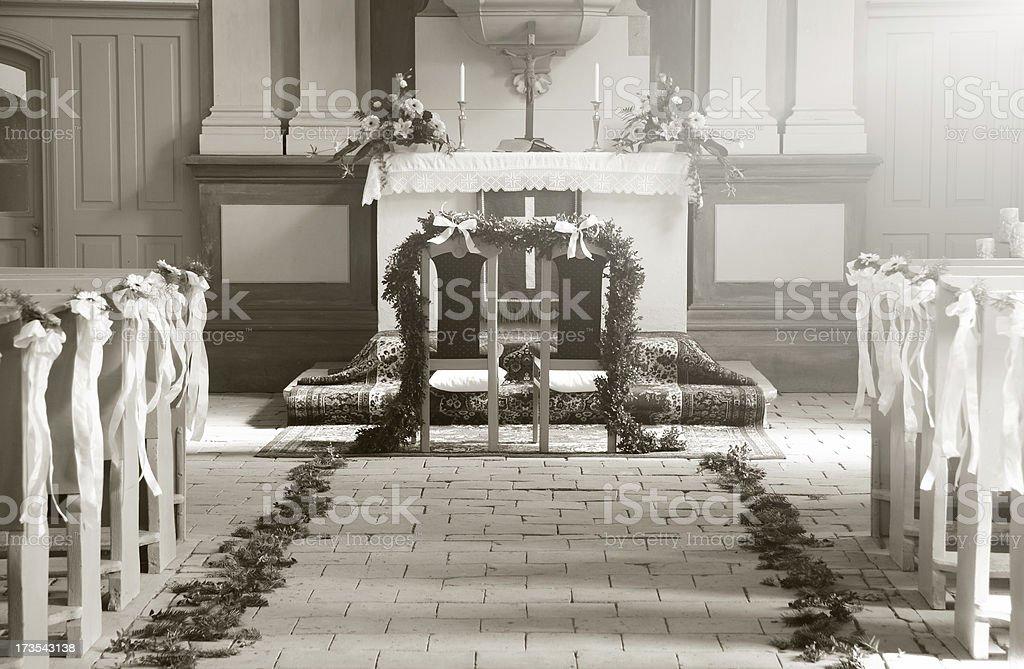 wedding altar royalty-free stock photo