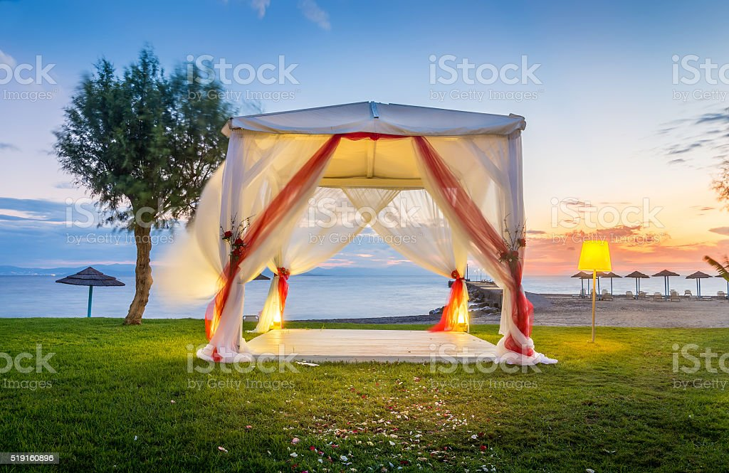 Wedding altar stock photo