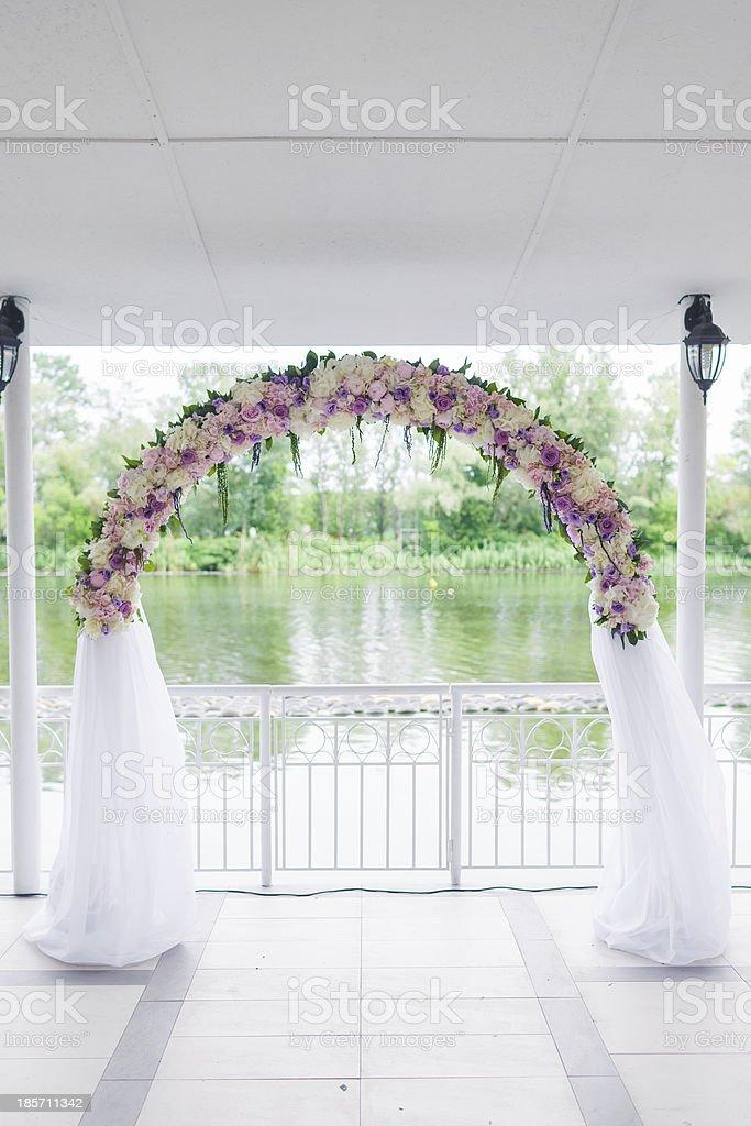 wedding arch royalty-free stock photo