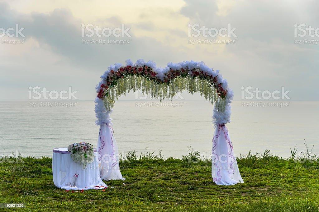Wedding arch. stock photo