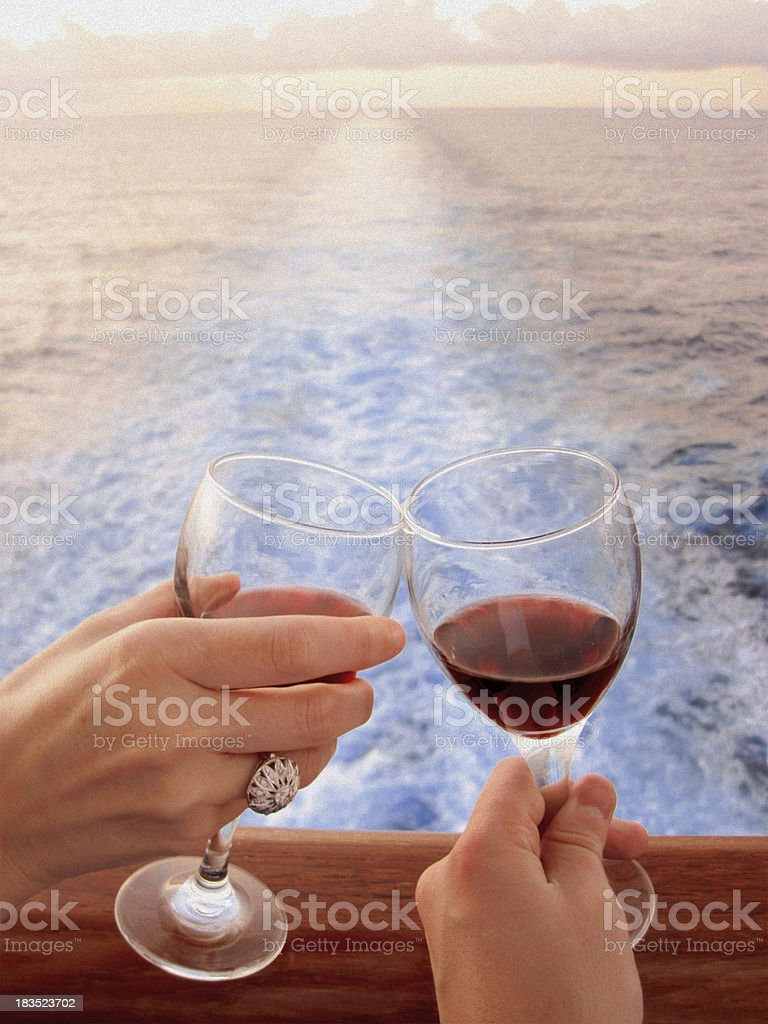 Wedding at Sea - Wine and Diamonds royalty-free stock photo