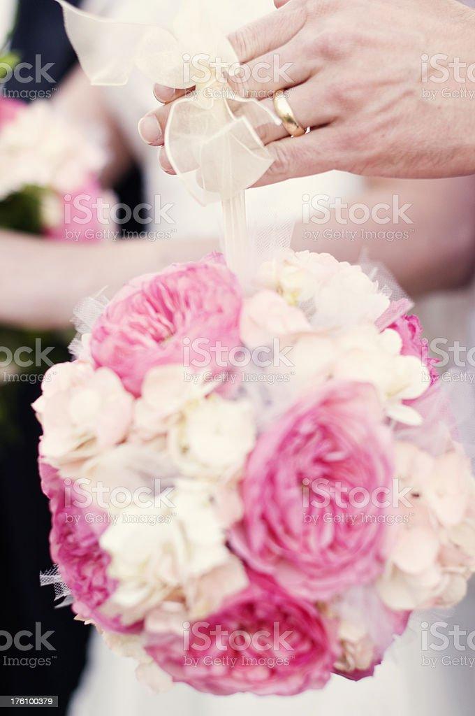 Wedding Ball Bouquet stock photo
