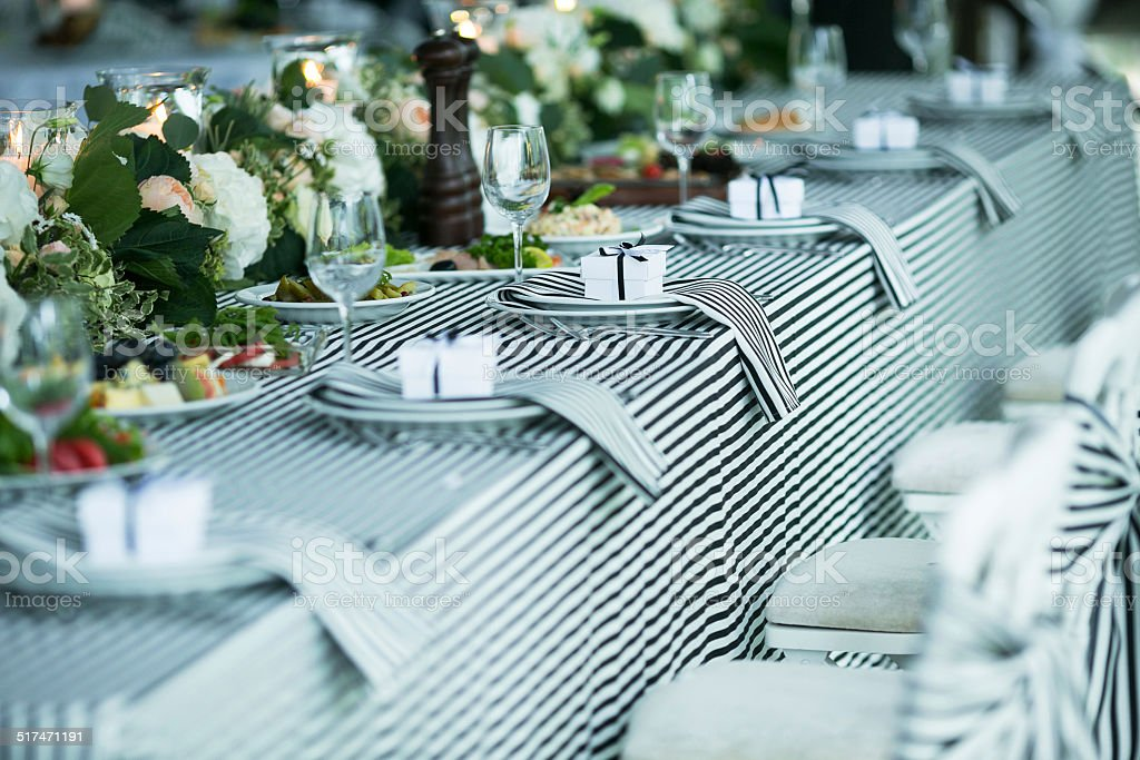 Wedding banquet stock photo