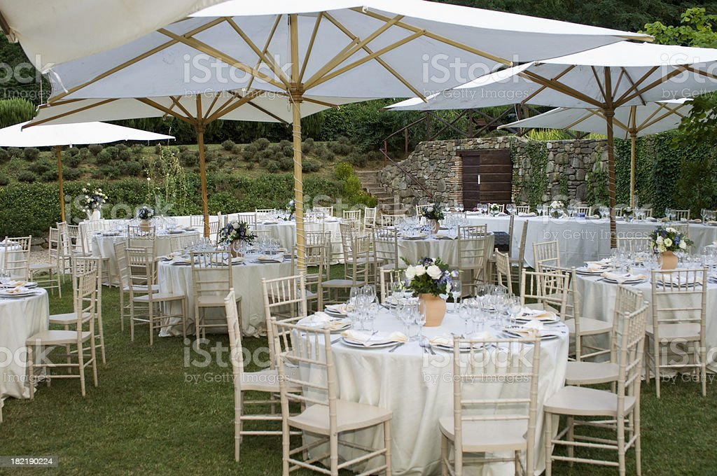 Wedding Banquet Preparation royalty-free stock photo