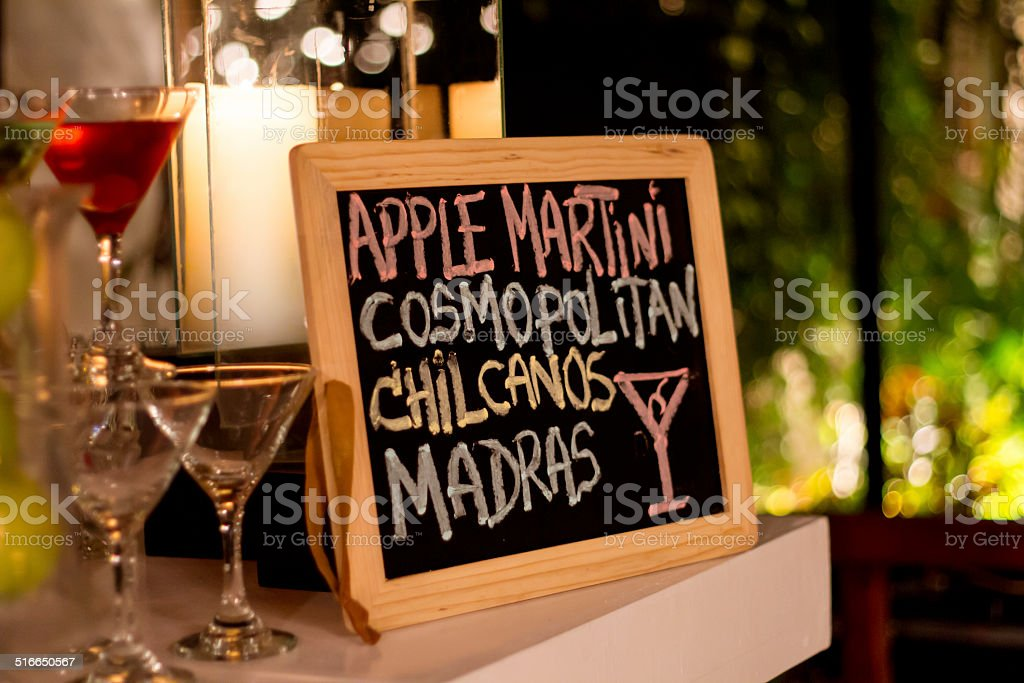 Wedding Bar sign stock photo
