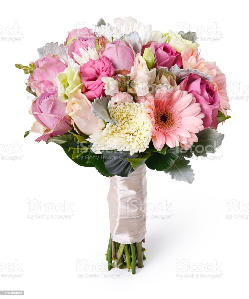 Wedding Bouquet + Clipping Path stock photo