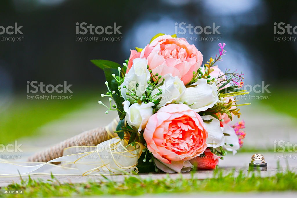 wedding bouquet, flowers, roses, beautiful bouquet stock photo