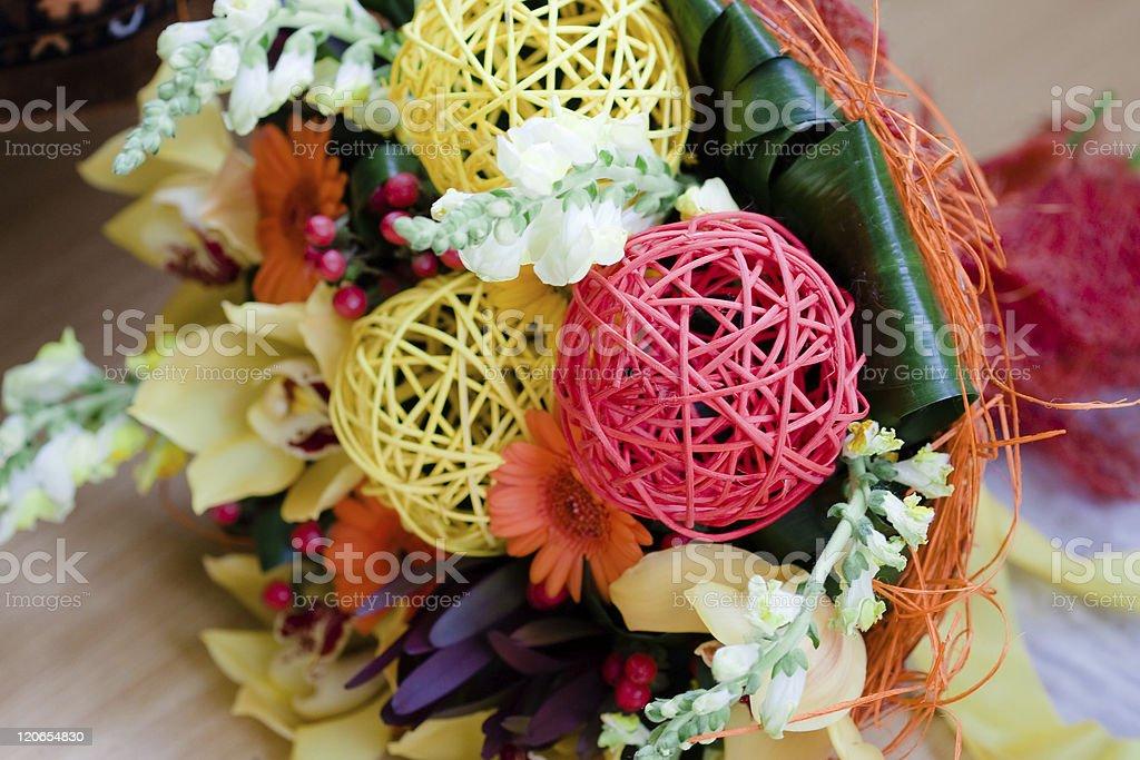 Wedding bouquet of bride stock photo