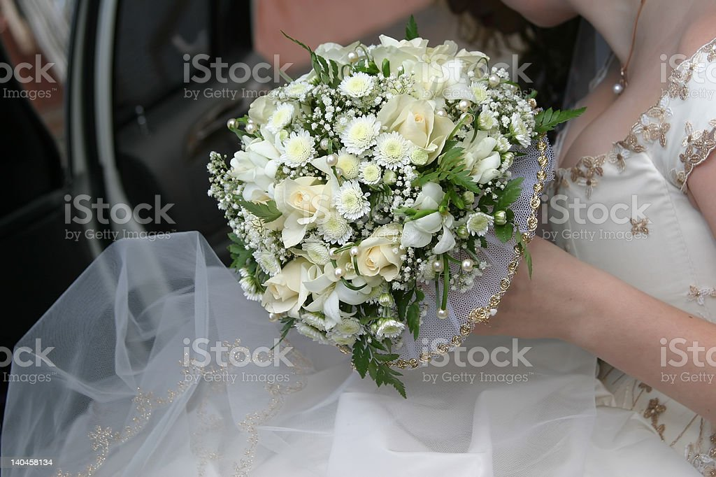 Wedding bouquet of the bride royalty-free stock photo