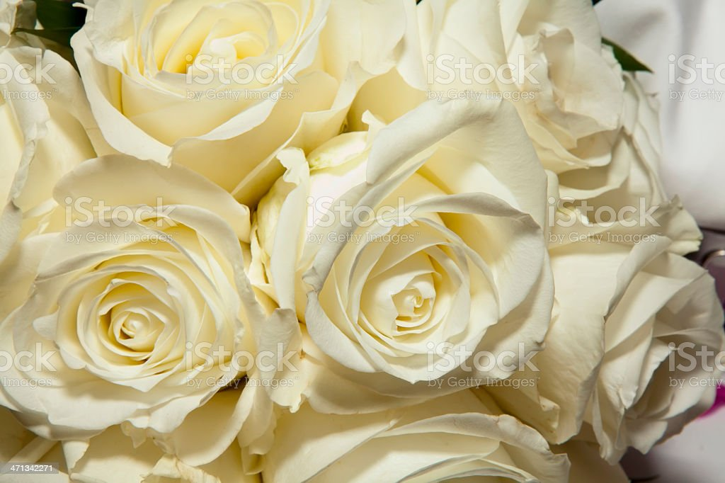 wedding bouquet of white roses royalty-free stock photo