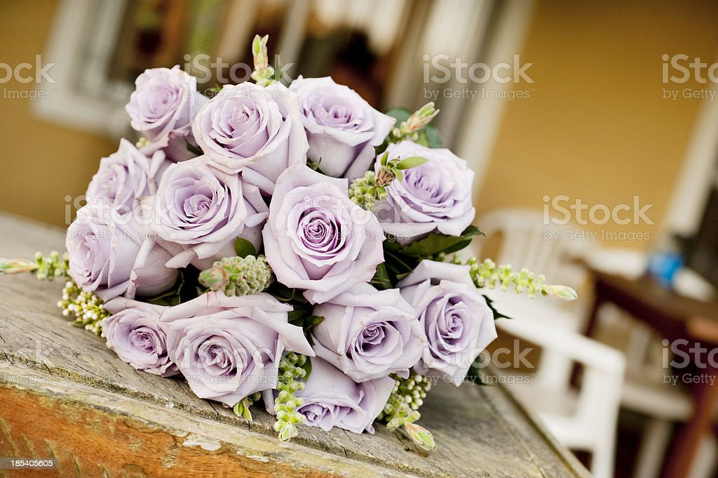 Wedding Bouquet on the table. royalty-free stock photo