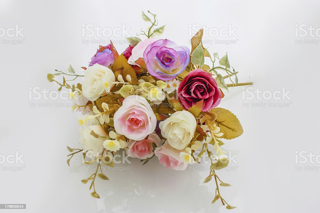wedding bouquet with rose bush royalty-free stock photo