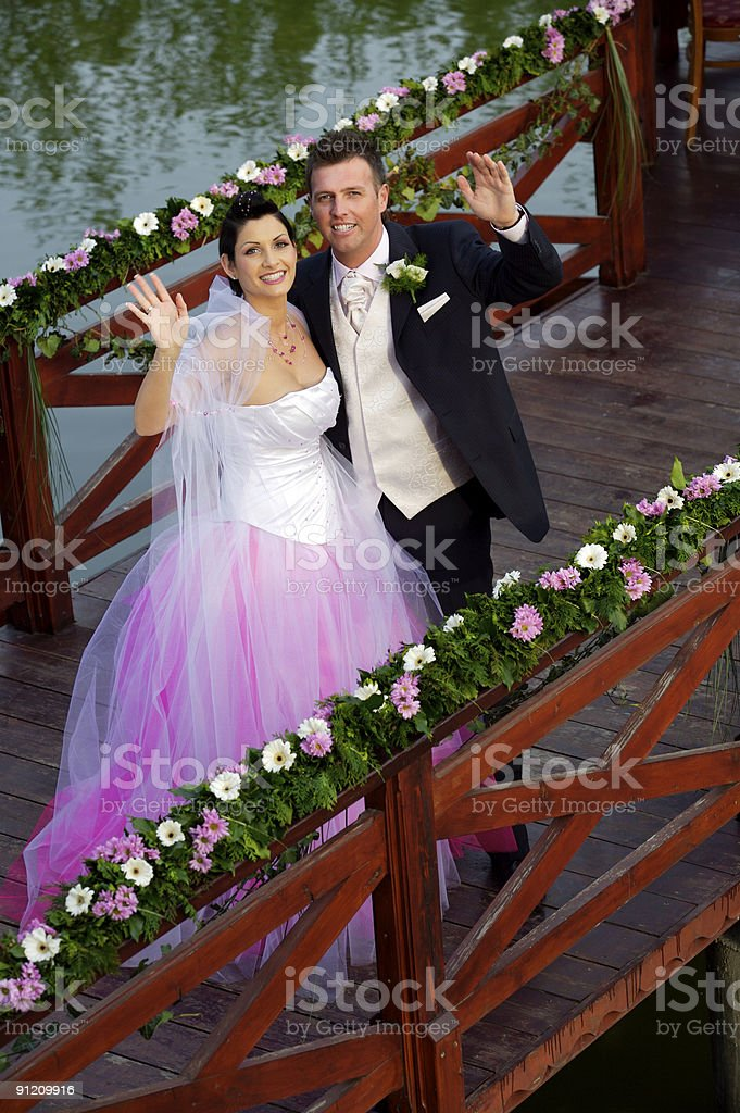Wedding: Bride and Groom royalty-free stock photo