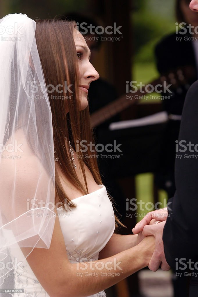 Wedding bride getting married royalty-free stock photo