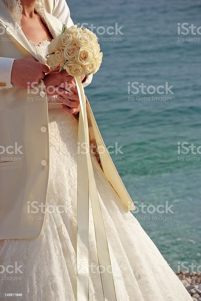 Wedding by the sea royalty-free stock photo