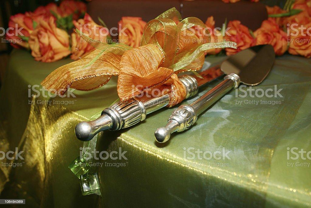 wedding cake accessories royalty-free stock photo