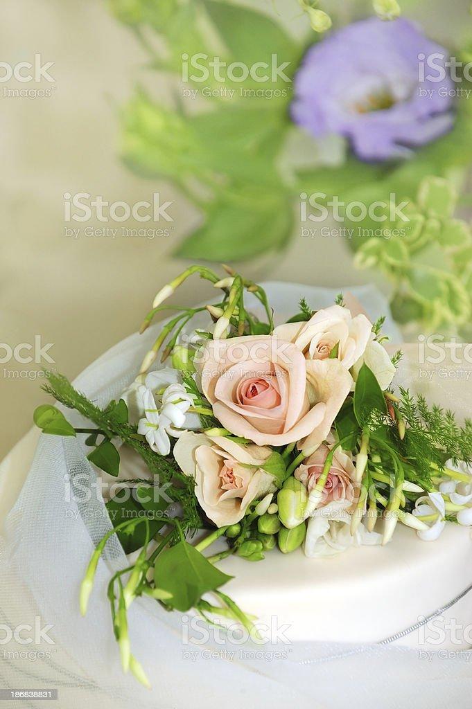Wedding Cake Bouquet stock photo