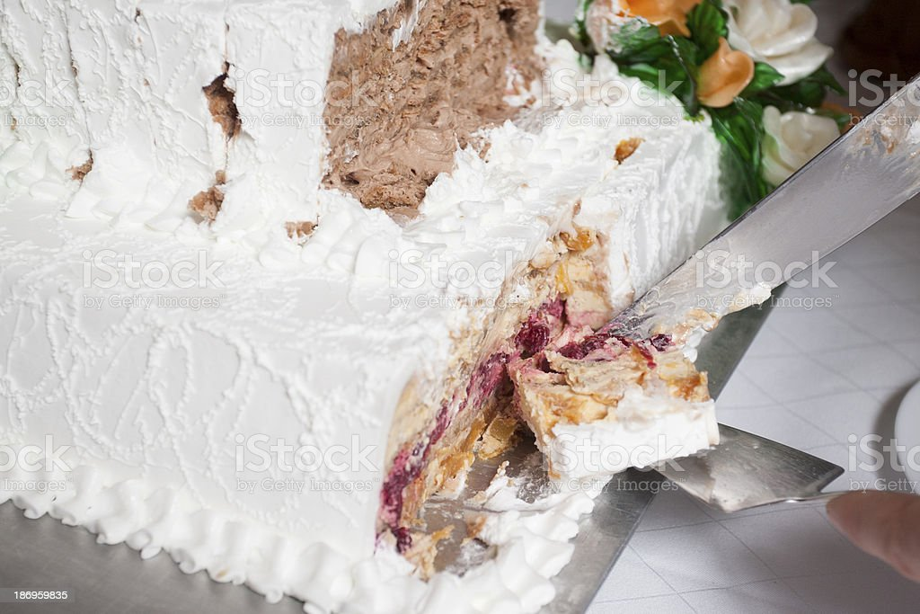 wedding cake cut royalty-free stock photo