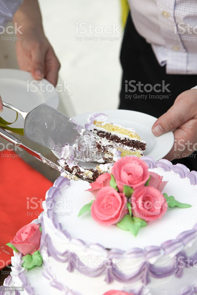 Wedding Cake Cutting stock photo