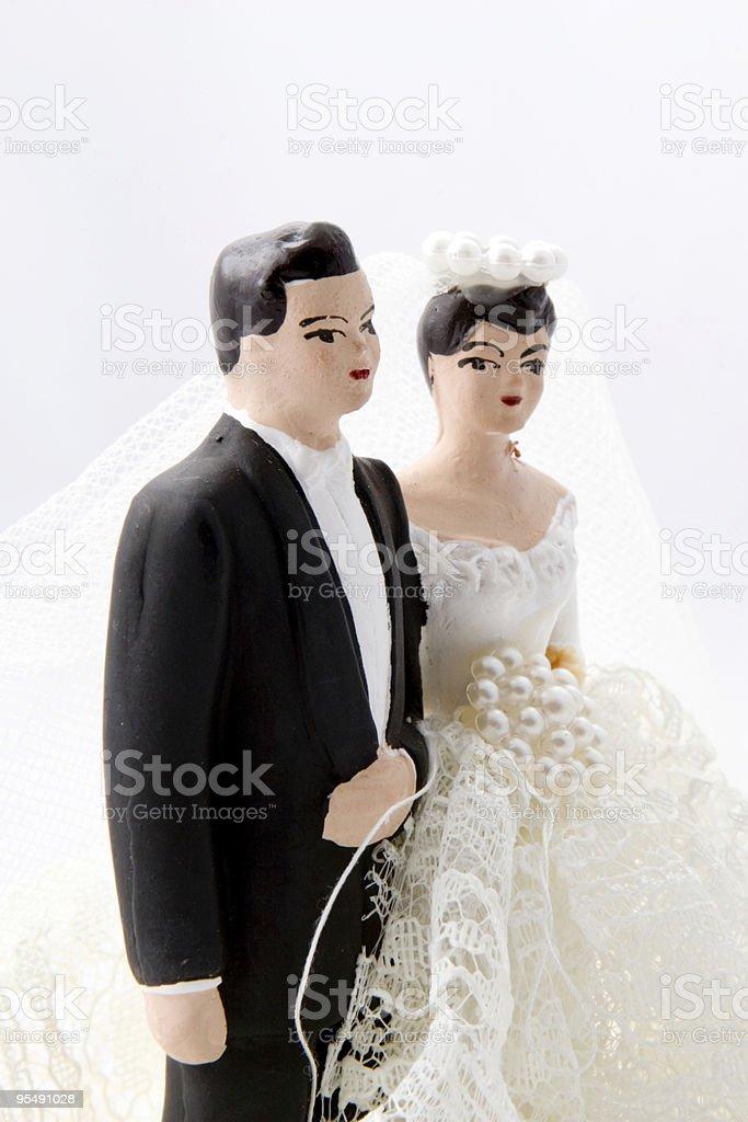 Wedding Cake Dolls royalty-free stock photo