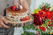 wedding cake home