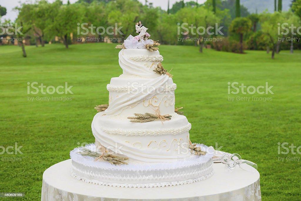 wedding cake outdoor stock photo