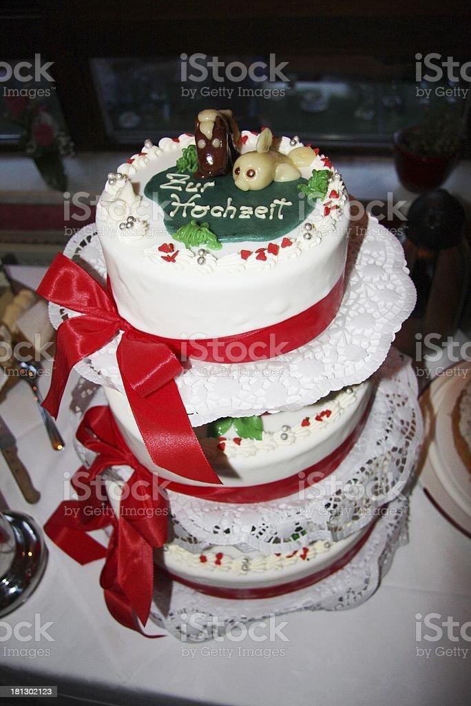 wedding cake stock photo