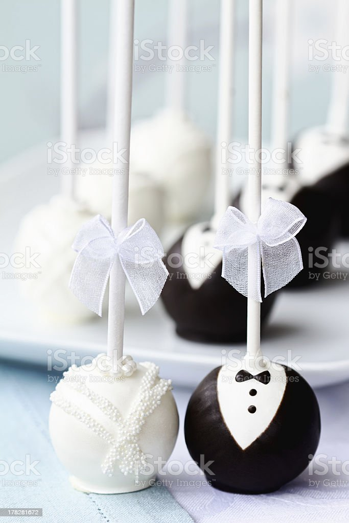 Wedding cake pops royalty-free stock photo