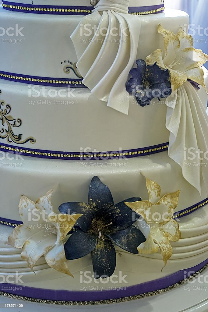 Wedding cake specially decorated.Detail royalty-free stock photo