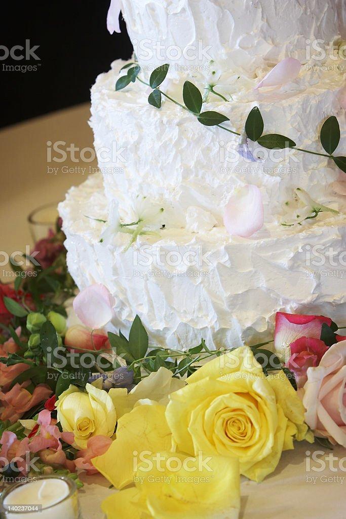 Wedding cake - sweet dessert royalty-free stock photo