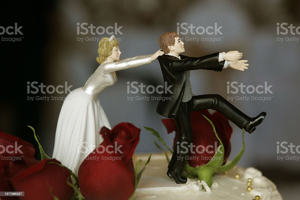 Wedding Cake Top stock photo