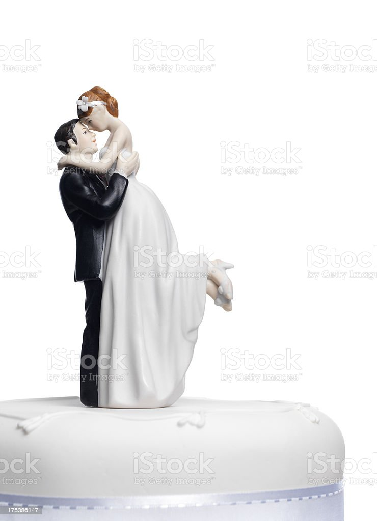 Wedding cake topper stock photo