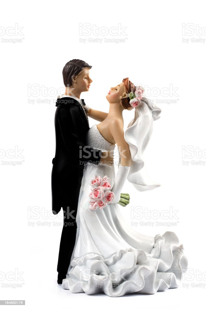 Wedding cake topper royalty-free stock photo