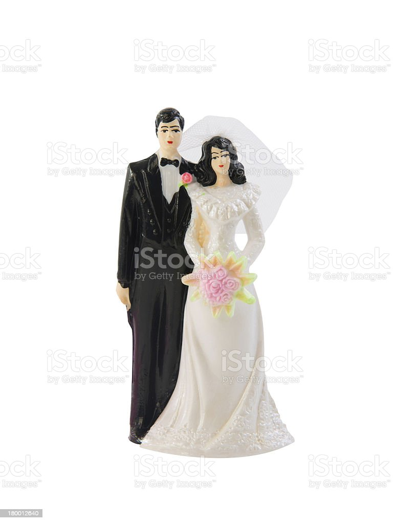 Wedding cake toppers stock photo