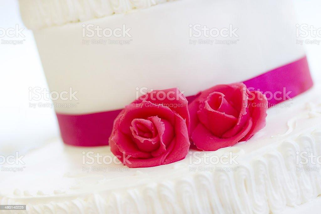 wedding cake with flowers royalty-free stock photo