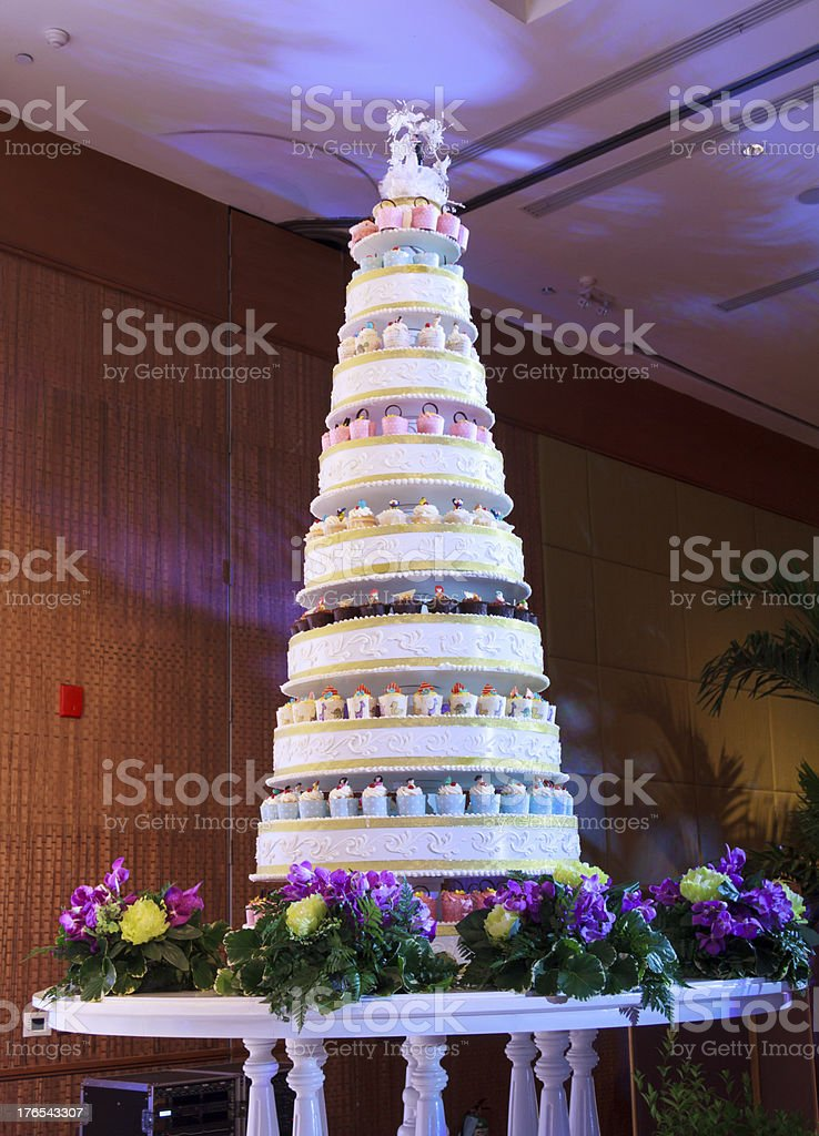 Wedding Cakes And Stage royalty-free stock photo