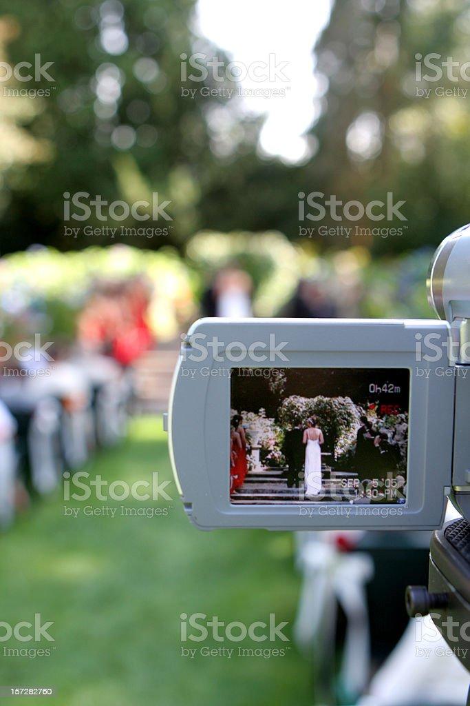 Wedding Cam View 2 royalty-free stock photo