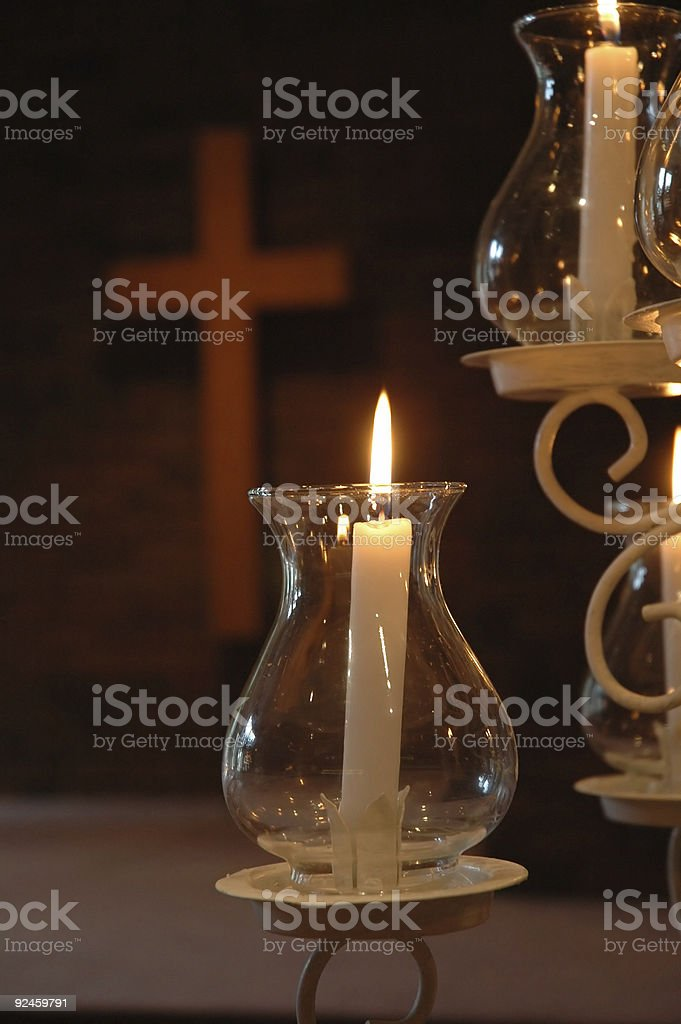 Wedding Candles royalty-free stock photo