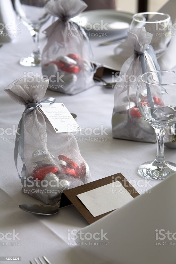 Wedding Candy Bags royalty-free stock photo