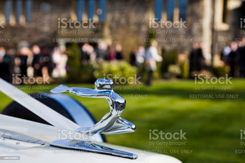 Wedding Car Mascot royalty-free stock photo