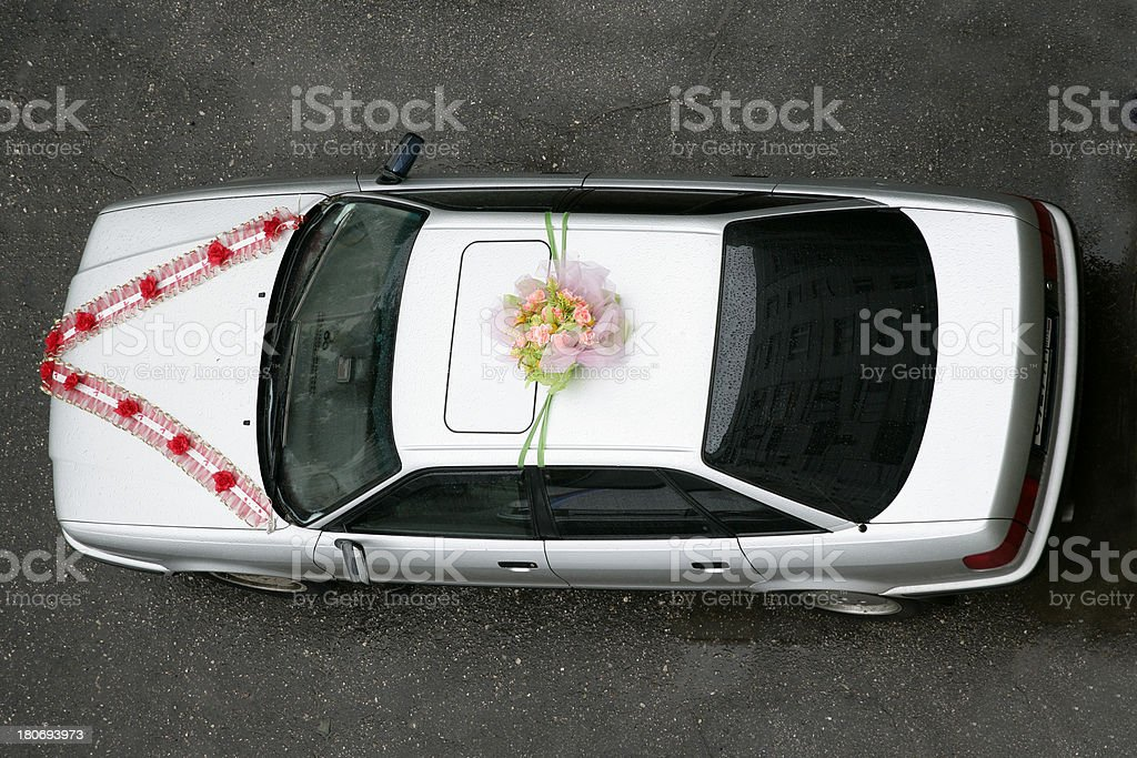 Wedding Car (view from above) royalty-free stock photo