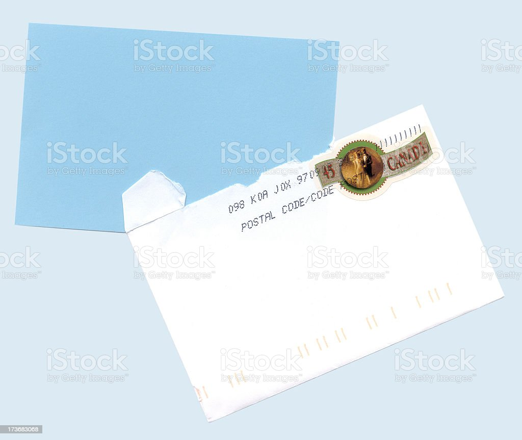 Wedding card with envelope royalty-free stock photo