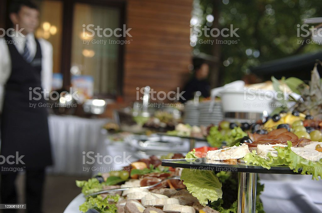Wedding catering 2 stock photo